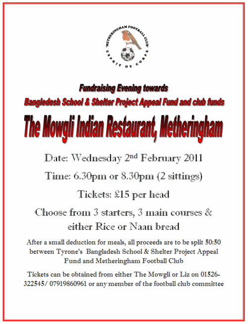Metheringham FC Indian Night