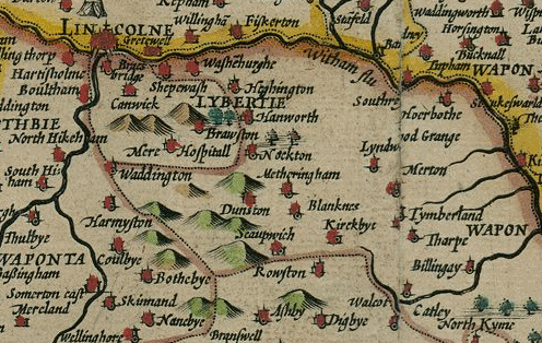 Lincolnshire excerpt - John Speed 1611 Map