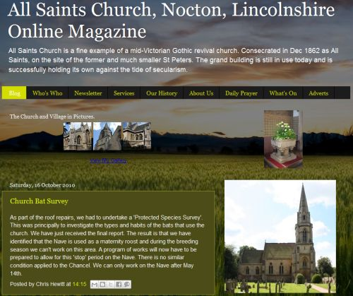 All saints Nocton Blog