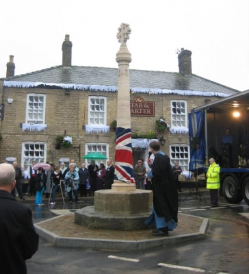 Metheringham Market Cross Dedication Ceremony 24 Oct 2009